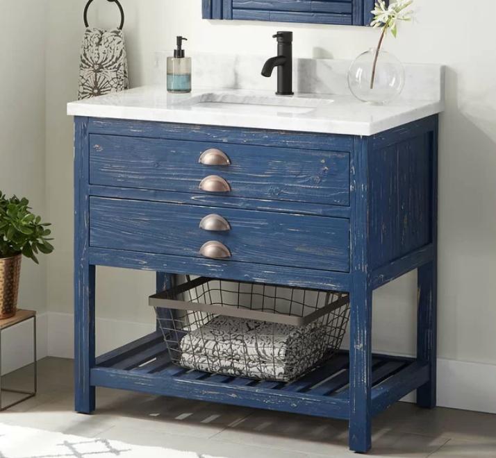 """Benoist Marble 37"""" Single Bathroom Vanity Set, $1799"""