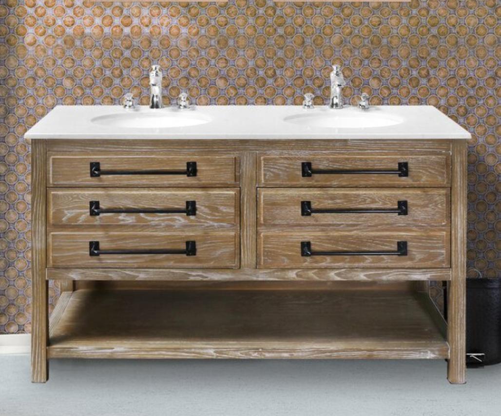 "Coulter 55"" Double Bathroom Vanity Set, $1089"
