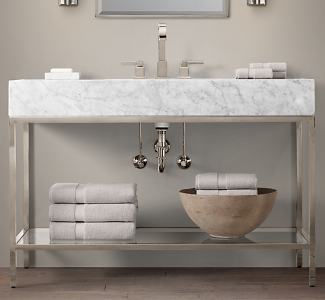 HUDSON METAL SINGLE EXTRA-WIDE WASHSTAND, $5590