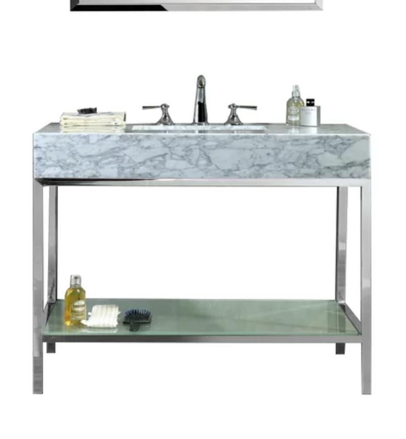 "Seddon 48"" Single Bathroom Vanity Set with Mirror, $1239"
