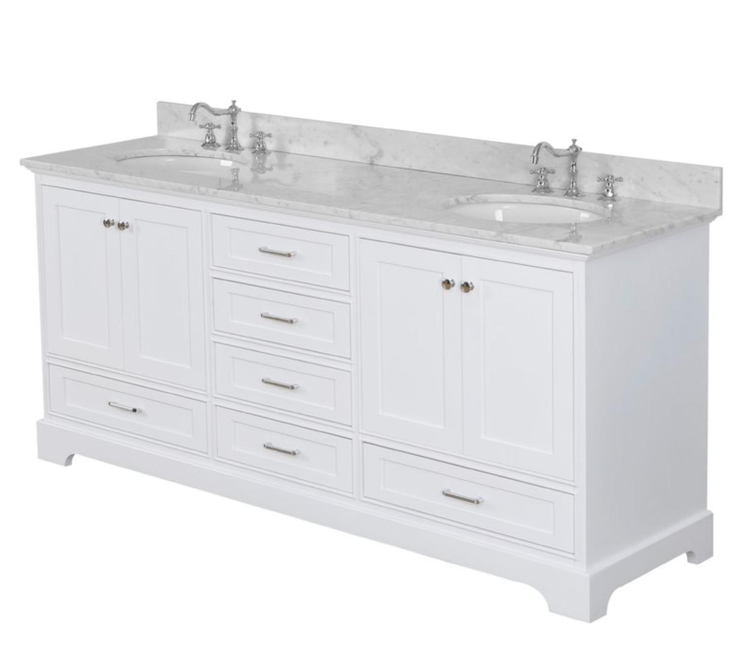 """Harper 72"""" Double Bathroom Vanity Set, $1799"""