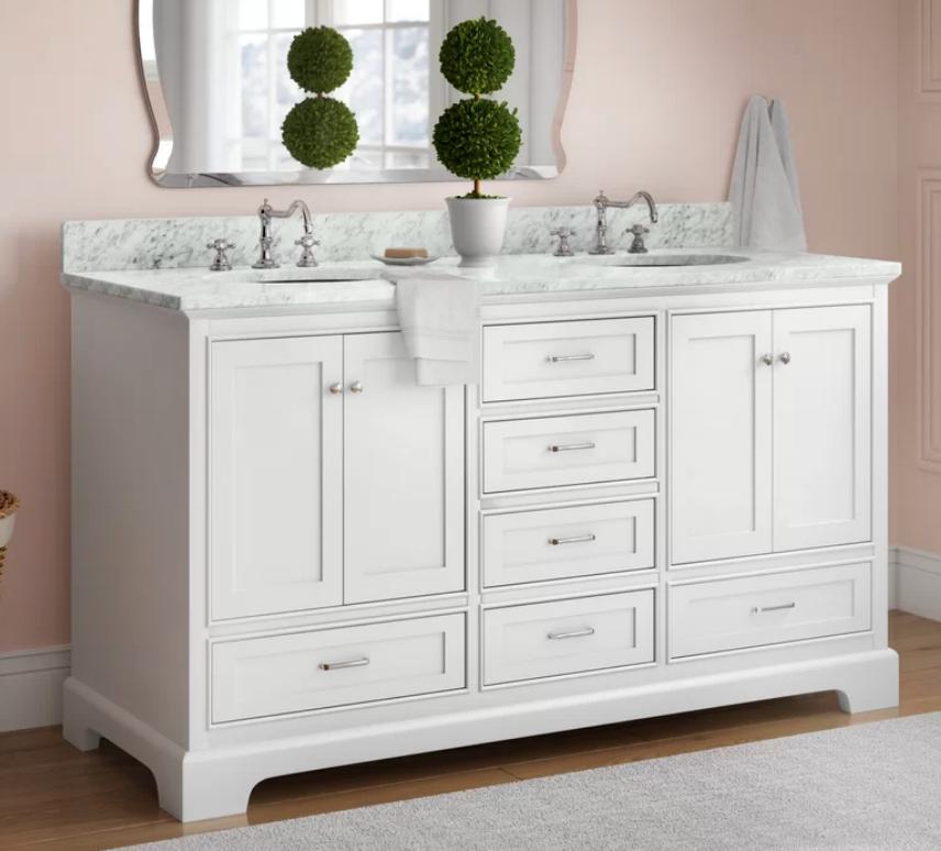 """Harper 60"""" Double Bathroom Vanity Set, $1499"""