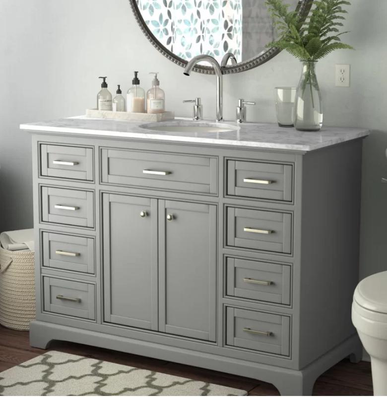 """Darry 48"""" Single Bathroom Vanity, $832"""