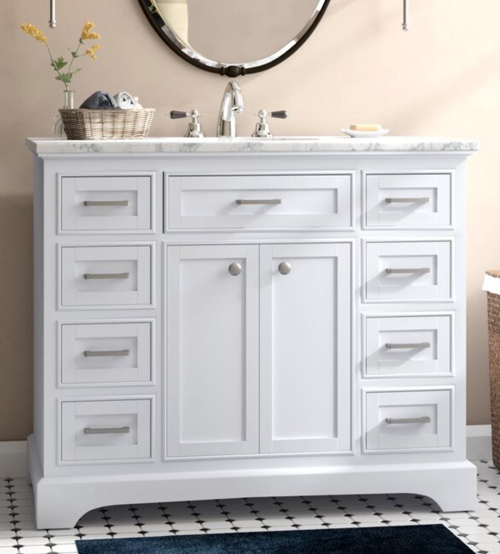 "Darry 42"" Single Bathroom Vanity Set, $890"