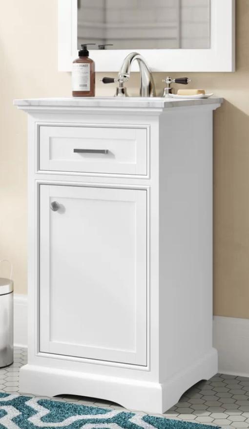 "Darry 19"" Single Bathroom Vanity Set, $401"