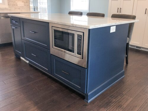 The Best Knobs And Pulls For Your Blue Cabinets Trubuild Construction