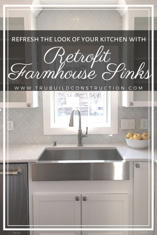 The Best Retrofit Farmhouse Sinks For, Install Farmhouse Sink Existing Cabinets