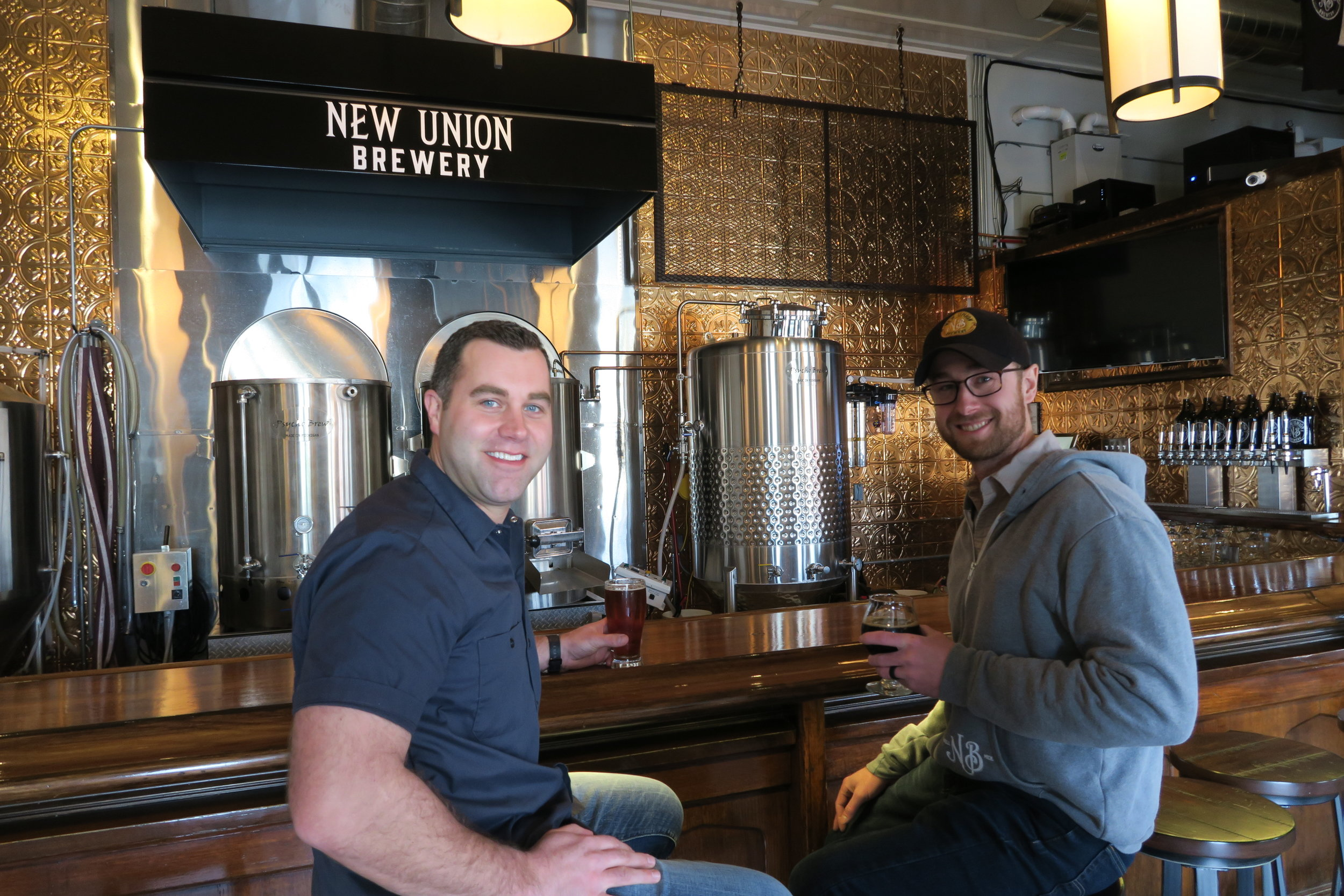 yler Velting and Ryan Stoepker, co-owners of New Union Brewery