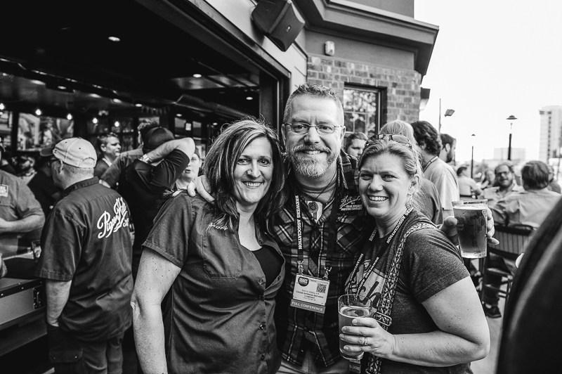 Sherry Curry (L), David Ringler, Jen Hain, photo courtesy of Steph Harding, MittenBrew