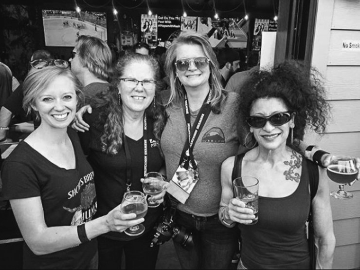 Pauline Knighton (L), Sonia Buonodono, Steph Harding, Annette May, photo courtesy of Fermenta