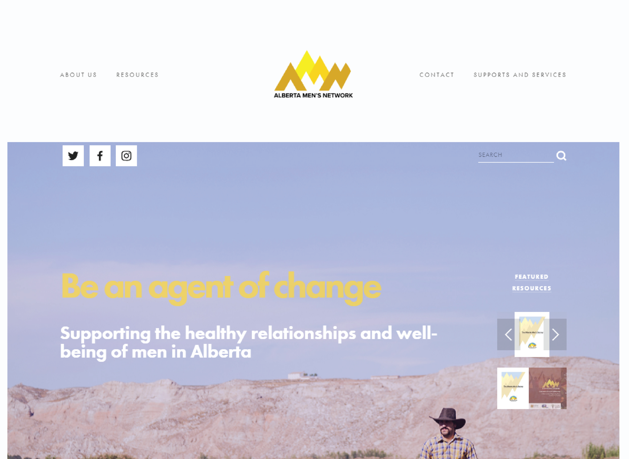 Site re-design with a focus on newly developed resources