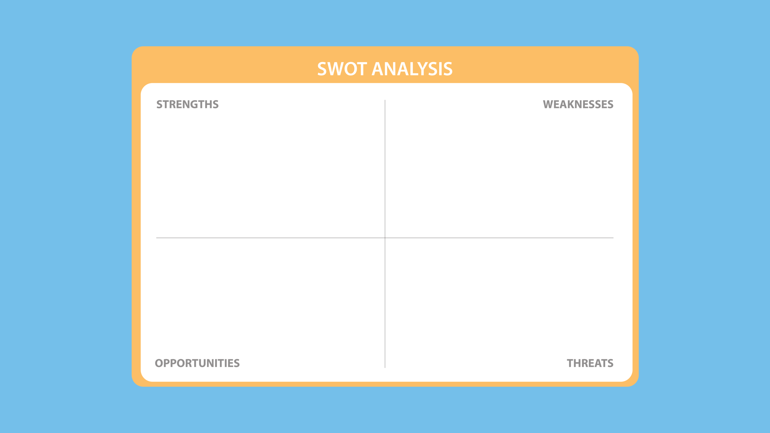A SWOT analysis can help you to understand the situation and form an effective strategy.