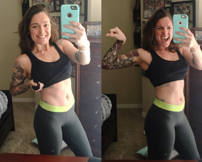 This is who I am TODAY, and I am happy to report that I am healthy and working out for my happiness, NOT for the number on a scale; which happens to be 165 lbs