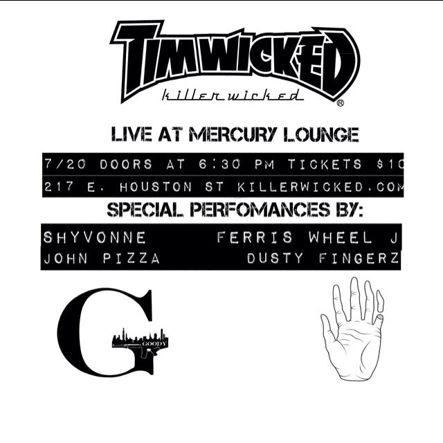 The homies got a show tonight in NYC.