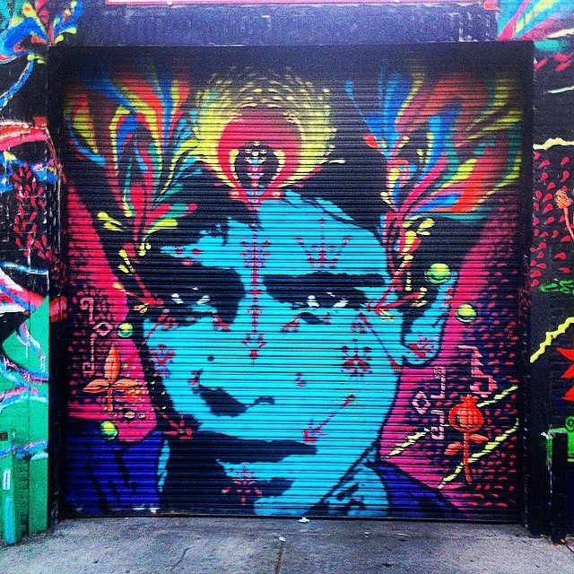 The Color Way.  #brooklyn #streetart #blue