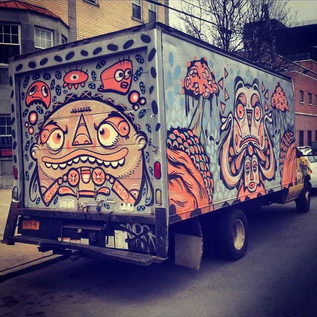 Move that Dope.  #brooklyn #streetart #future #movingtrucks