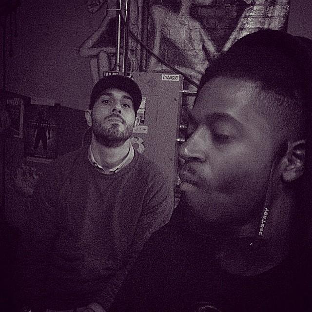Charlie and Tab before the Duke Coffeehouse Show.  #kooleyhigh #kooleyishigh #Duke #hiphop #northcarolina