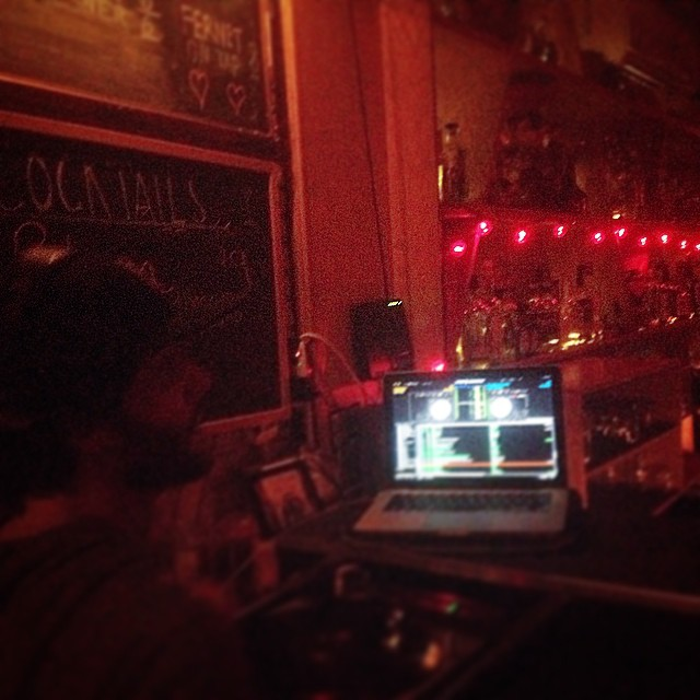 Digits at Friends n Lovers…  I've got both in here currently.  Classon near Atlantic.  #brooklyn #kooleyhigh #DJs