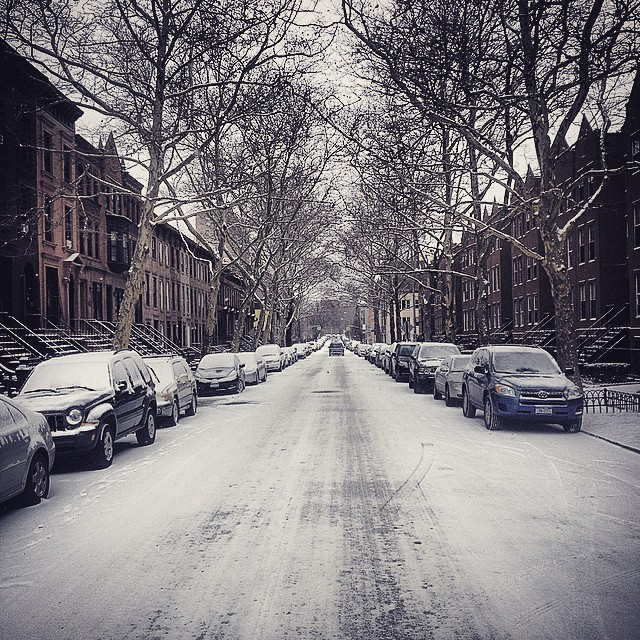 Walking in a Winter Wonderland.  #Brooklyn #Winter #Snow