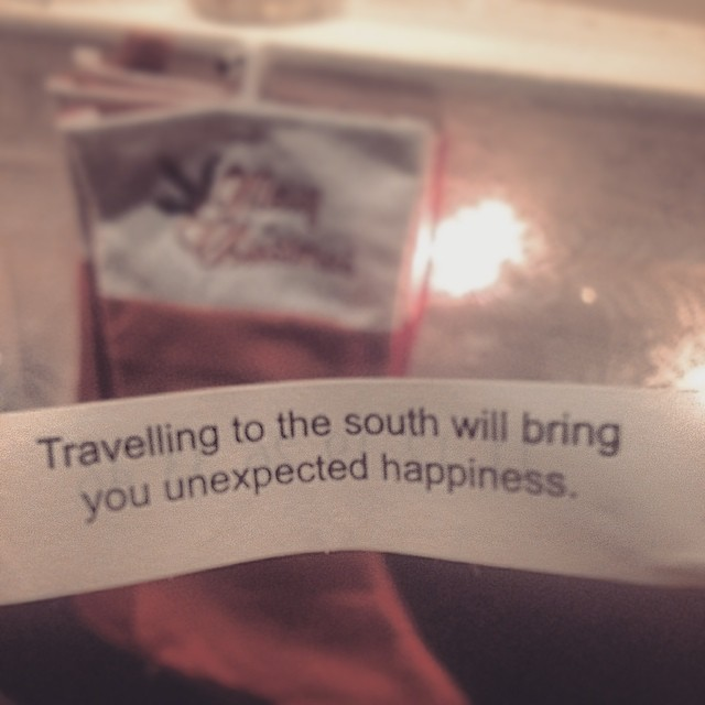 The Chinese Restaurant near the crib really knows the future.  #fortunecookie #christmas #family #south #northcarolina