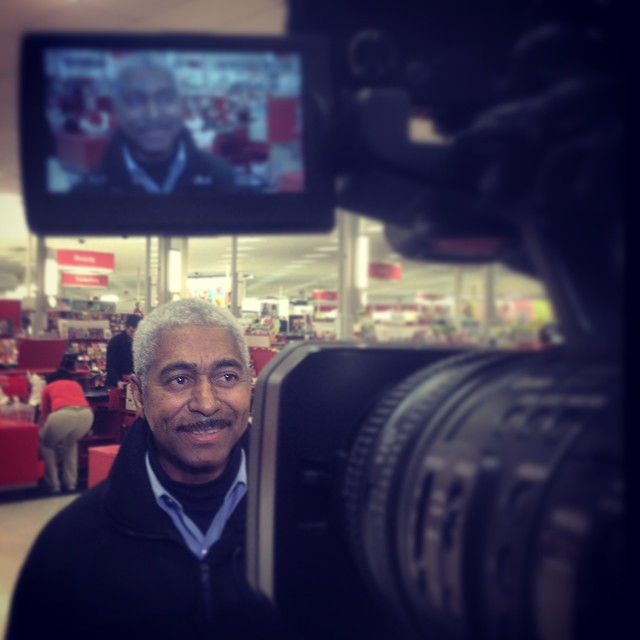 Charlies pop bout to be on the news for some last minute shopping. Channel 2. #greensboro #wfmy #target #shopping #xmas #pops