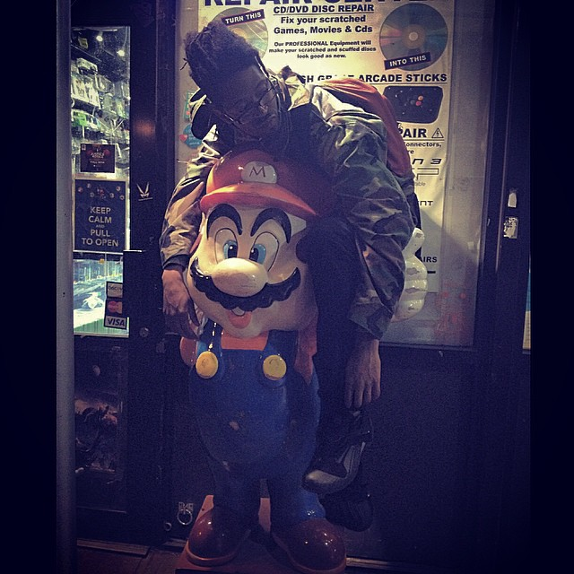 Those times when your Bros are there to hold you up >>>>. #kooleyisdrunk #supermario #nintendo #nyc #ouchere #goodtimes