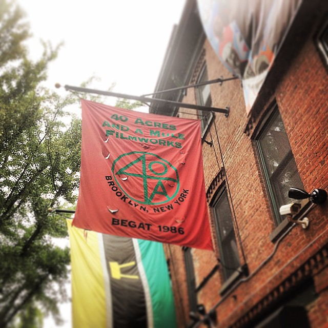 A Spike Lee Jog.  #brooklyn #fortgreene #kooleyishigh #flags #40AcresAndaKooley