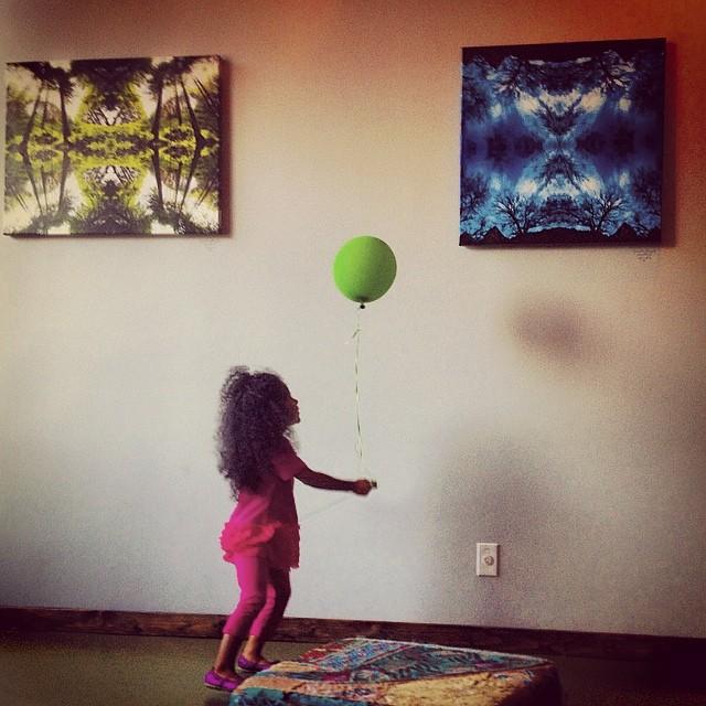 Little Green Balloon.  #cute #kids #california #losangeles