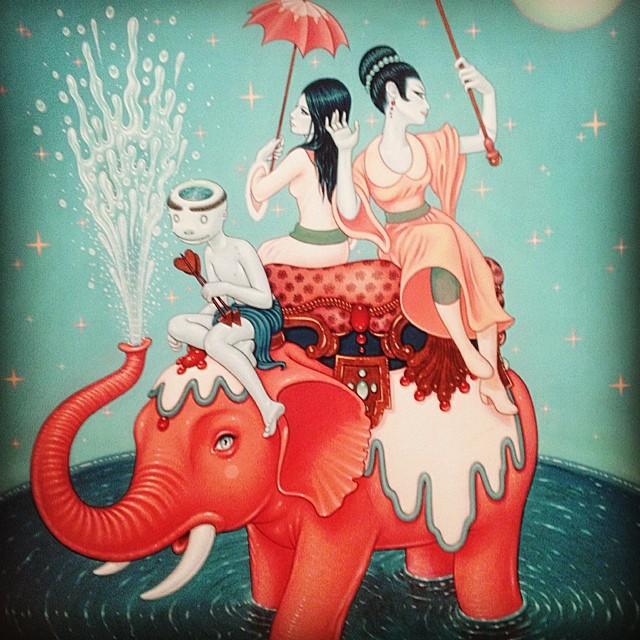 Splish Splash #brooklyn #gallery #art #kooleyishigh #thecottoncandymachine #taramcpherson #elephants