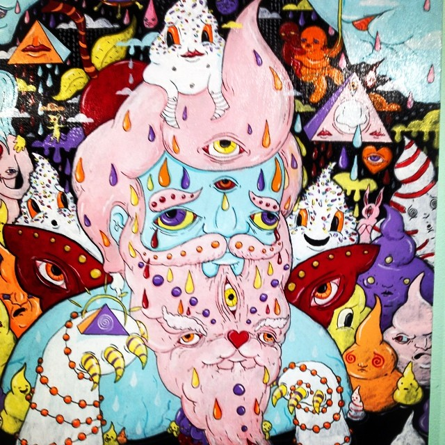 Made me want to swim in ice cream.  #gallery #art #brooklyn #TheCottonCandyMachine #TaraMcPherson #kooleyishigh