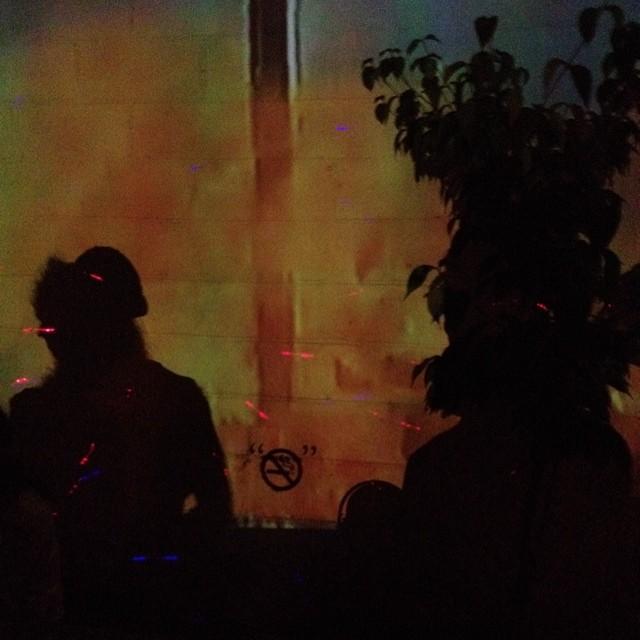 Late Night Psrtay.  #brooklyn #latergram #projectorsattheclub #kooleyisdrunk