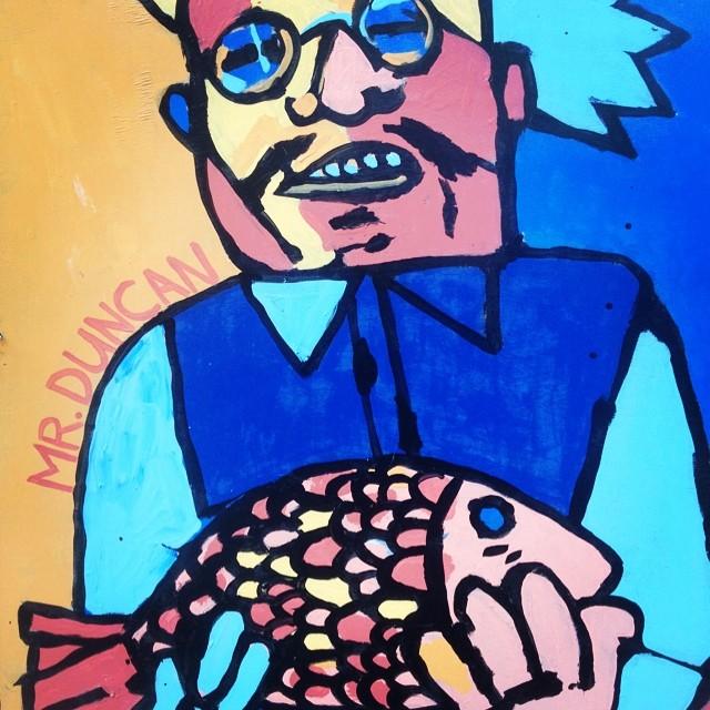 We eat fish, toss salads, and make rap ballads. #streetart #brooklyn #myrtle #ghostface