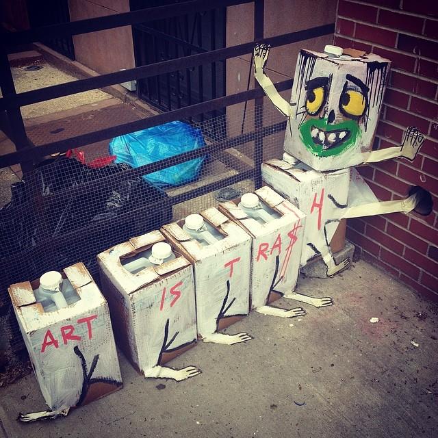 """Art is Trash"" #brooklyn #streetart"