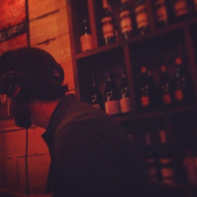 Dj ill Digitz doing the thang in Alphabet City.   Poppin Champaaaagne. #kooleyhigh