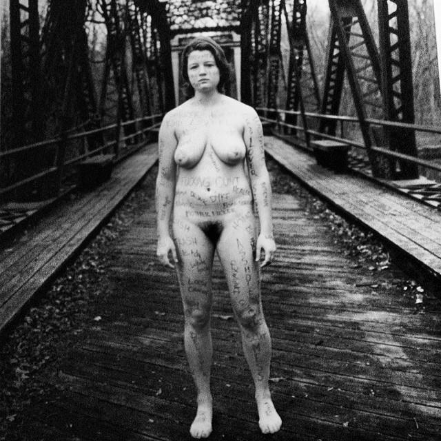 Naked Bush Portraits on the wall….   Soooo LES.