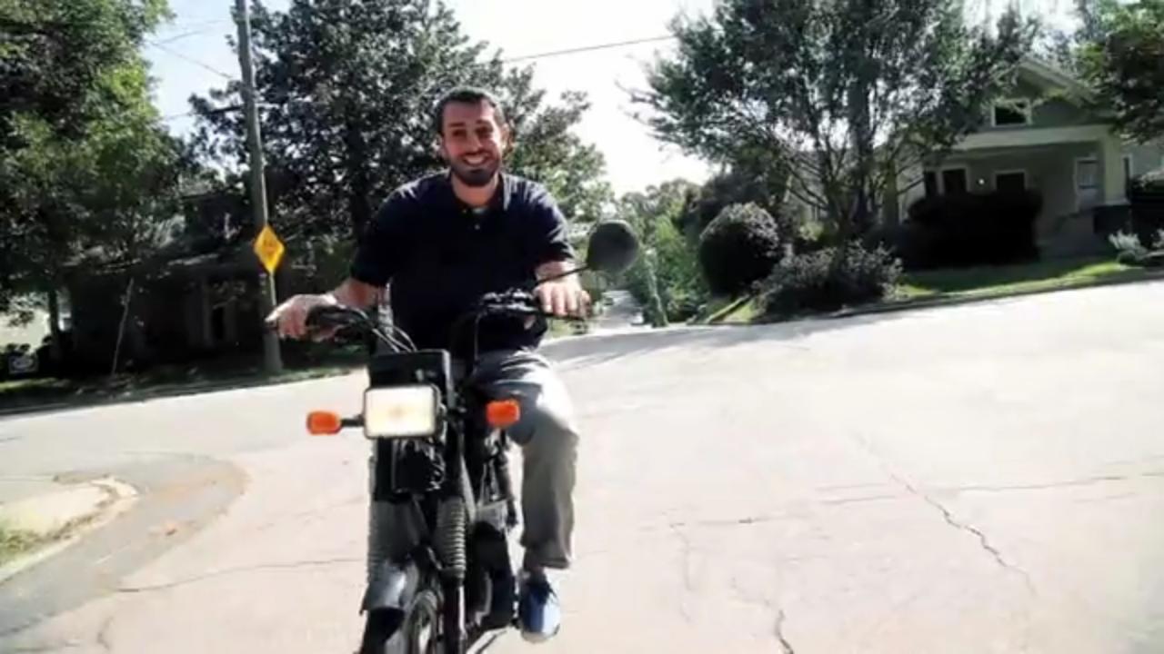 Tab-One is soooooo happy to have a Bike.