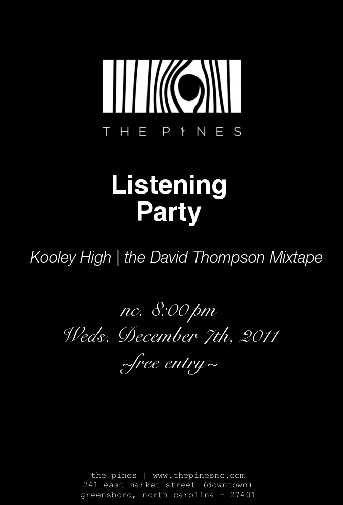 thepinesnc :     sshh. we're having a listening party. | @kooleyhigh