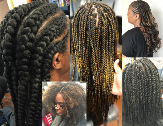 the Braid bar... - Crochet Braids, Cornrows, Box Braids, Feed-In Braids, Crochet Braids with Individuals, Kinky Twist, Havana Twist.To schedule your braid appointment click here and select braid bar. ****The scheduling system is a shared booking platform. Once you submit your braid deposit with Shauntavia of Cheeks: Makeup | Hair | Lashes you do not need to submit a deposit with DiDi Payne Artistry.***