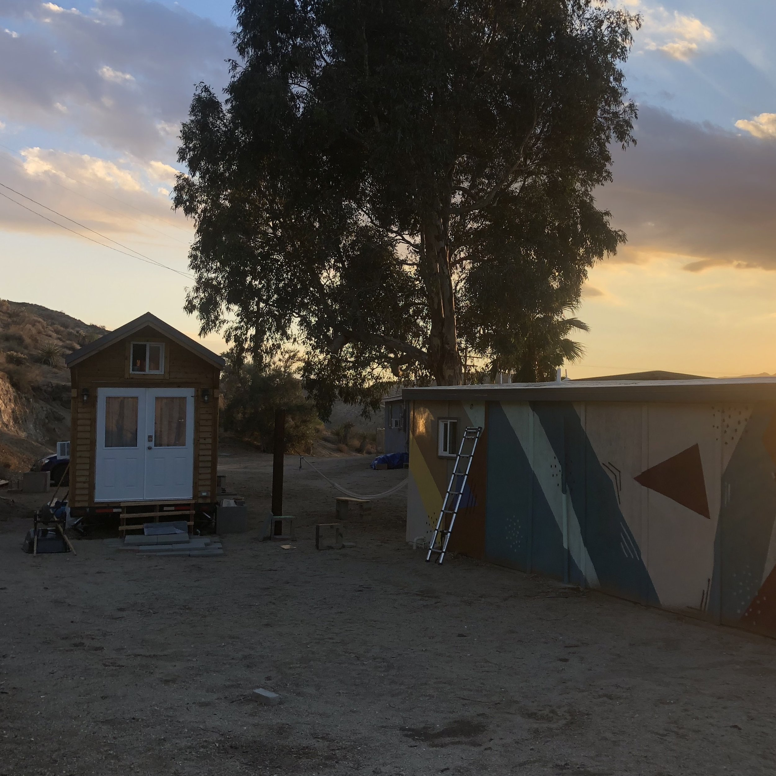 papermoonoutpost   Book a stay at our tiny house if you're headed to Yucca Festival!  #yuccafest #tinyhouse #tinyhome #desert