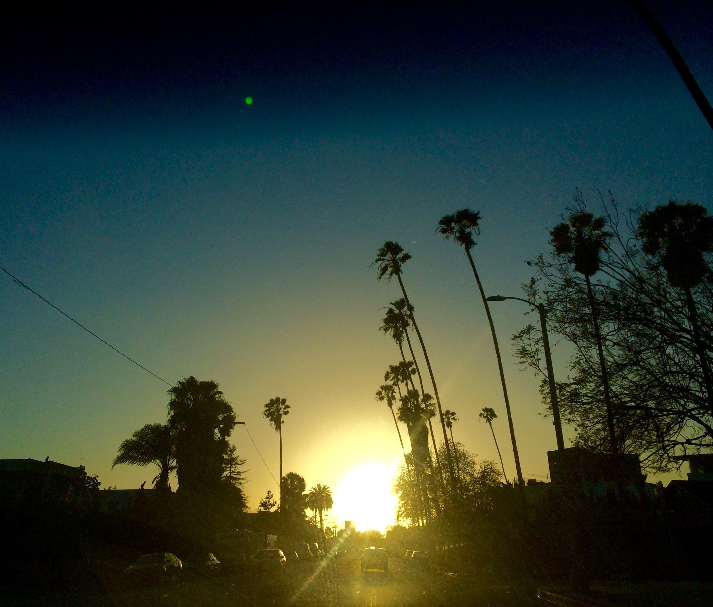 crownoftheking   traffic leaving the city  #LA #losangeles #yuccafest