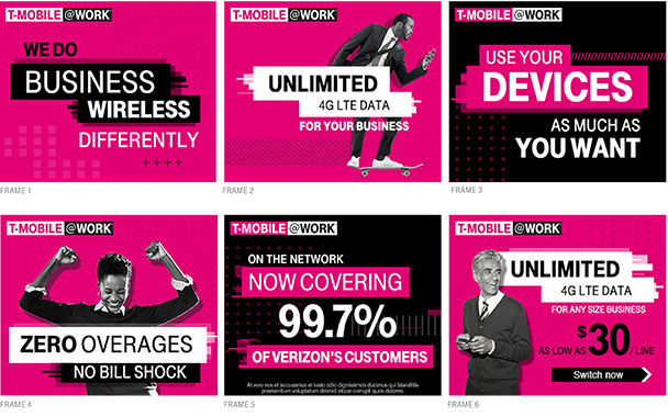 T-Mobile @Work Display Media