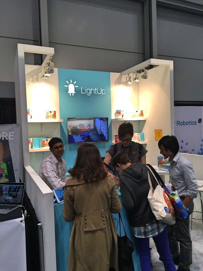 The LightUp (  https://www.lightup.io/  ) booth at Toy Fair. Really cool—likely really expensive to build, ship and setup.