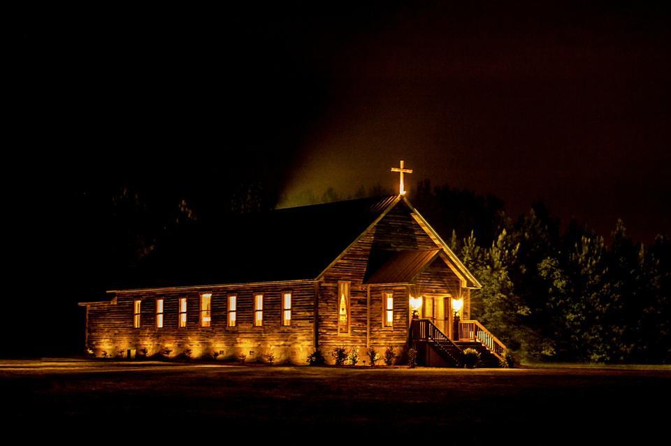 The Chapel at Night at Hidden Acres | Wayne's View Photography