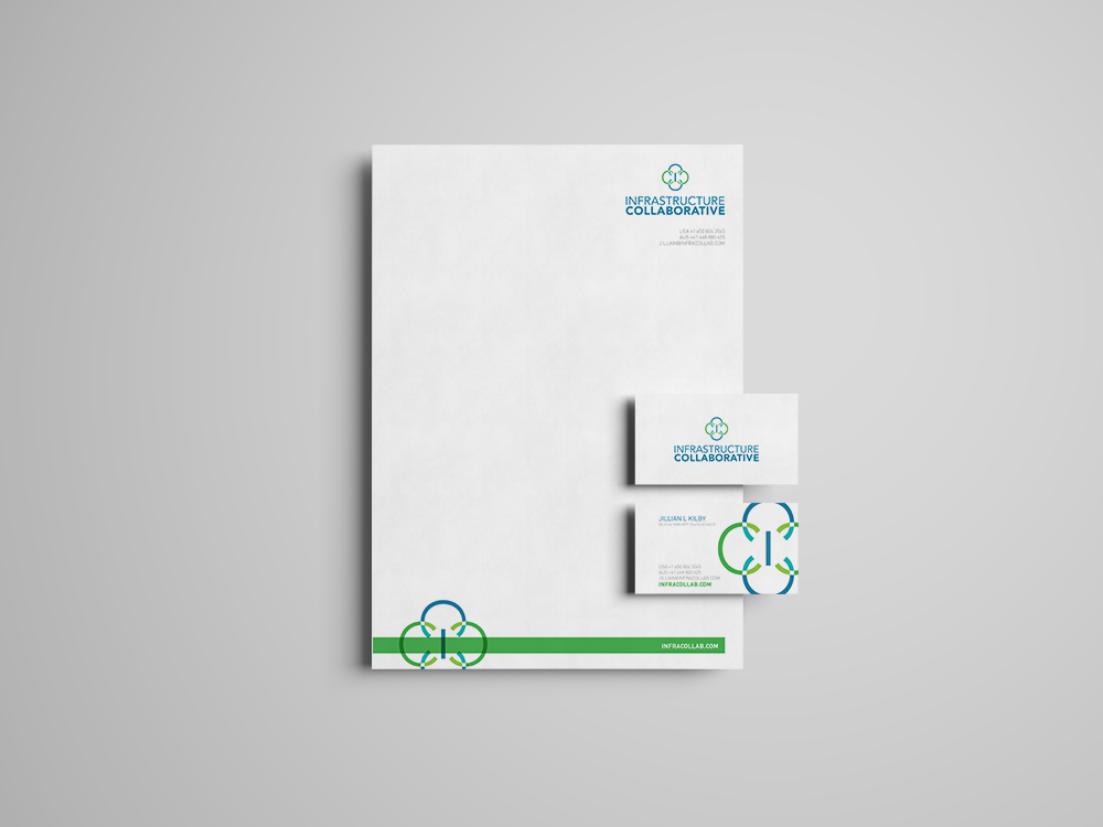 Infrastructure Collaborative stationery design
