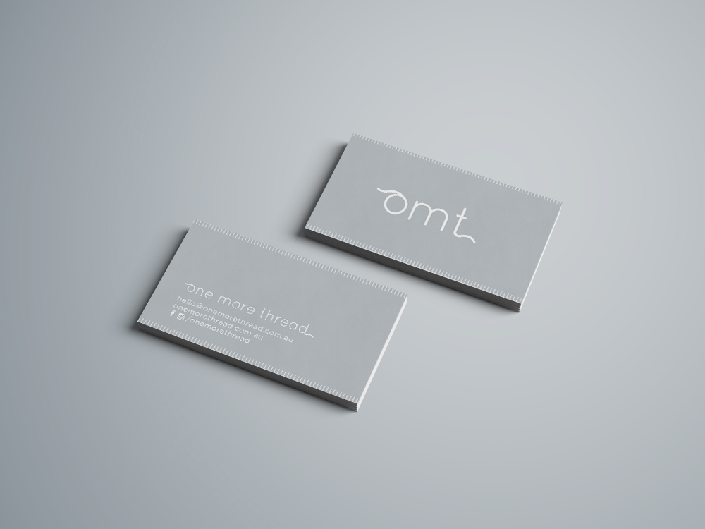 one more thread business cards