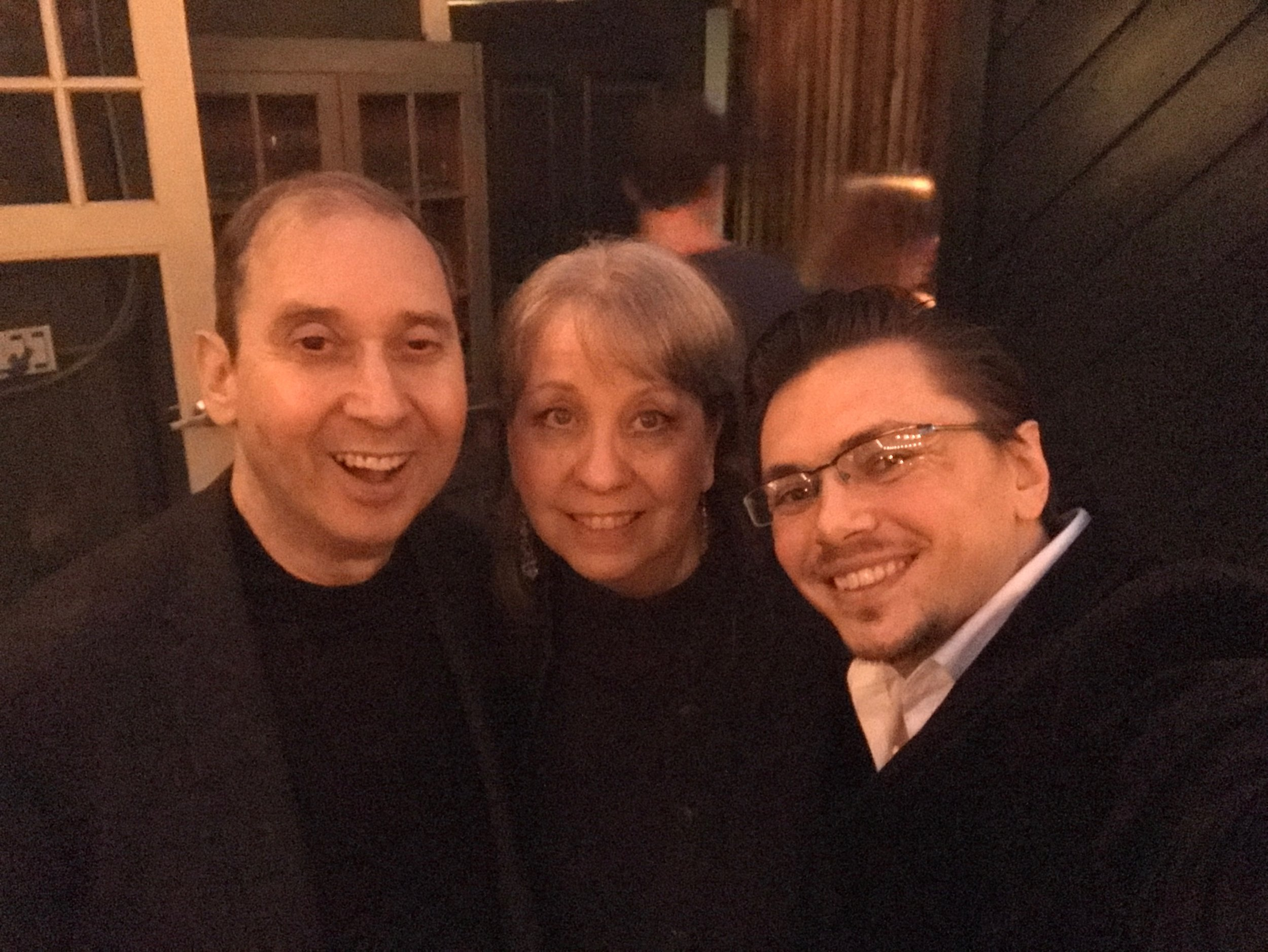 With Oscar-nominated and Emmy Award-winning lyricist Dennis Spiegel and former Executive Director of the SCL Laura Dunn. Dennis and I are currently working together on a song project!