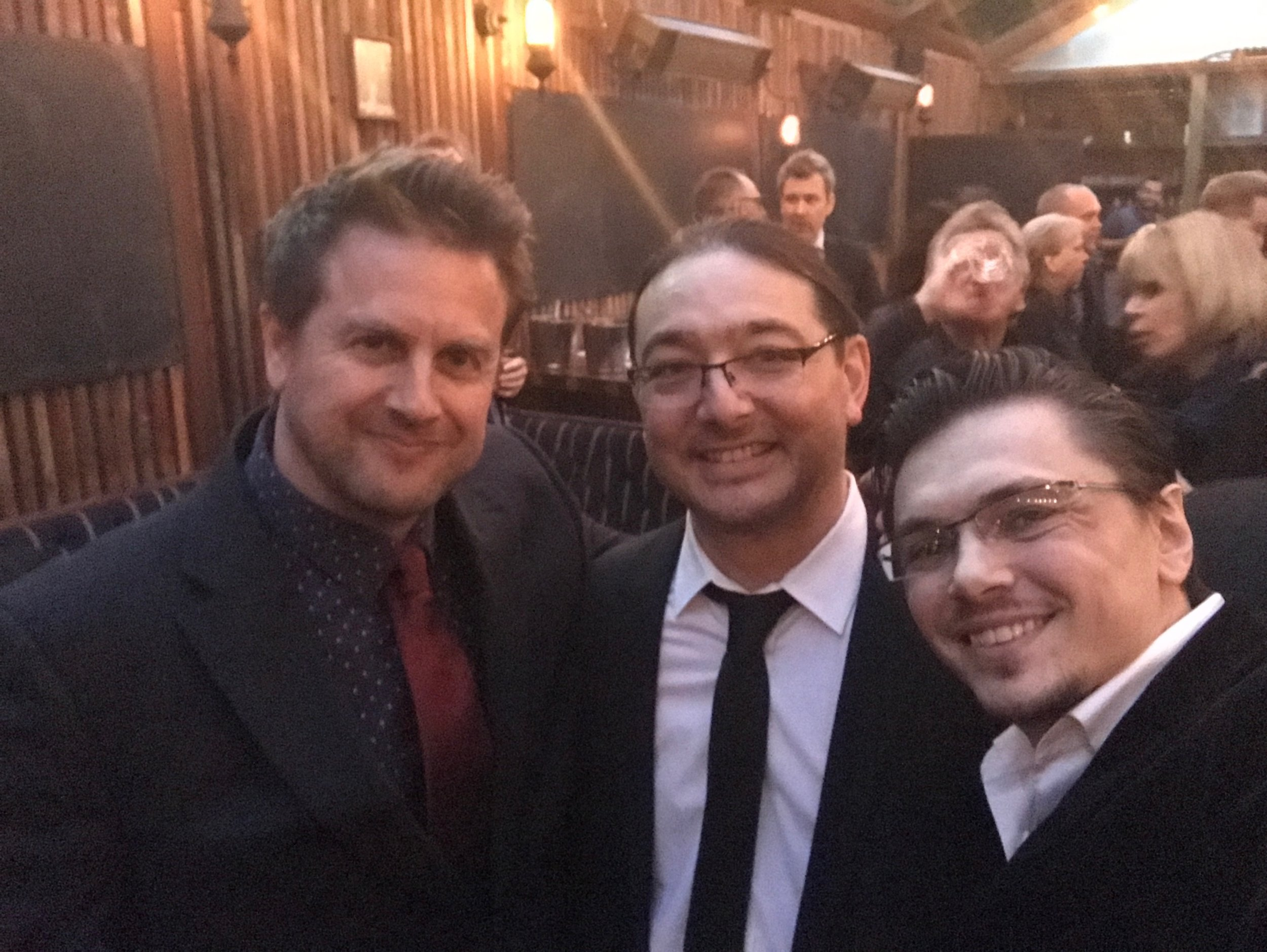 With composer and SCL administrator Mark Smythe, and composer Ken Jacobsen