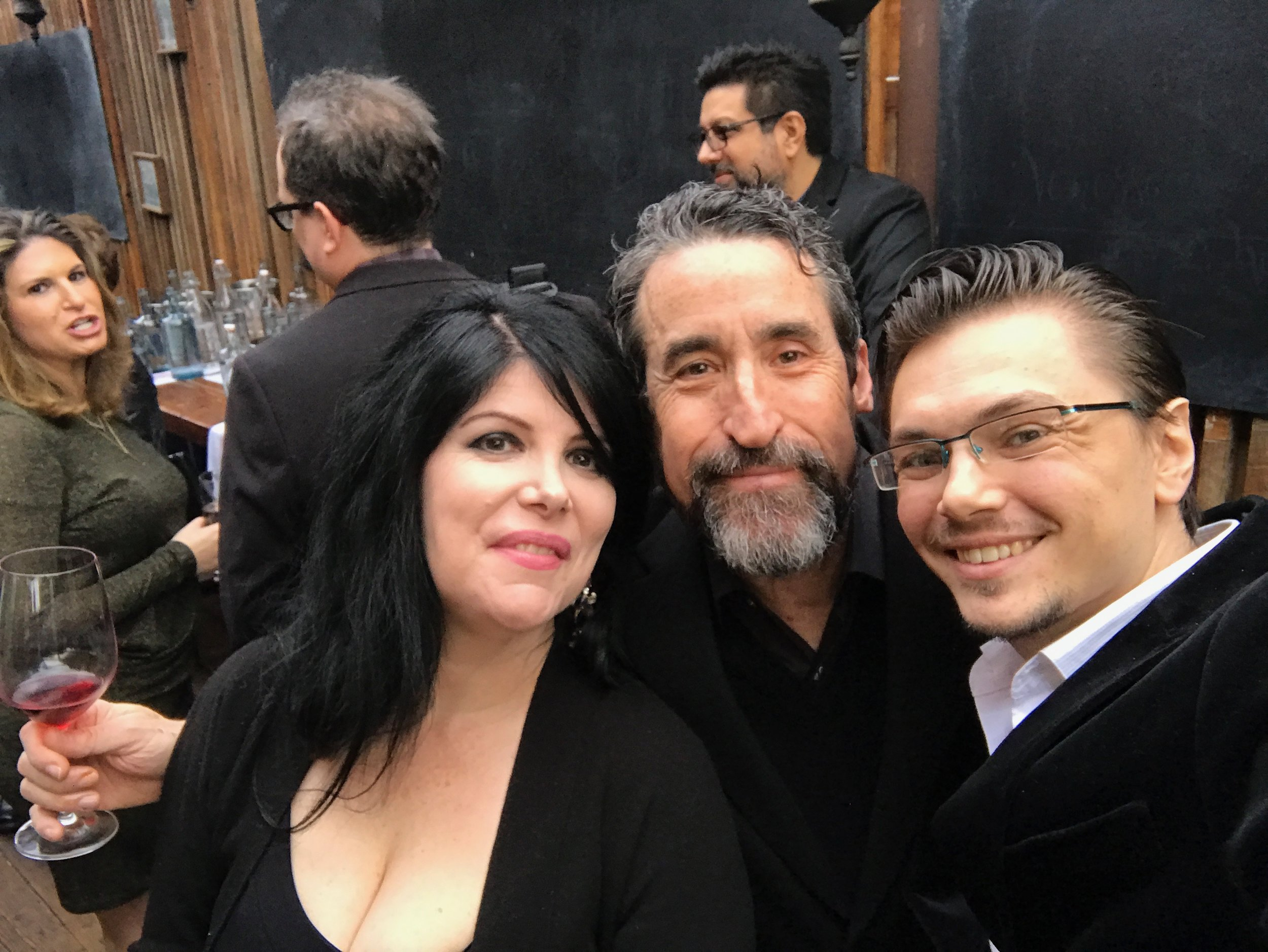 """With TV series """"24: Conspiracy"""" theme composer and dear friend John Massari and his fiancée Aimee Lombard."""