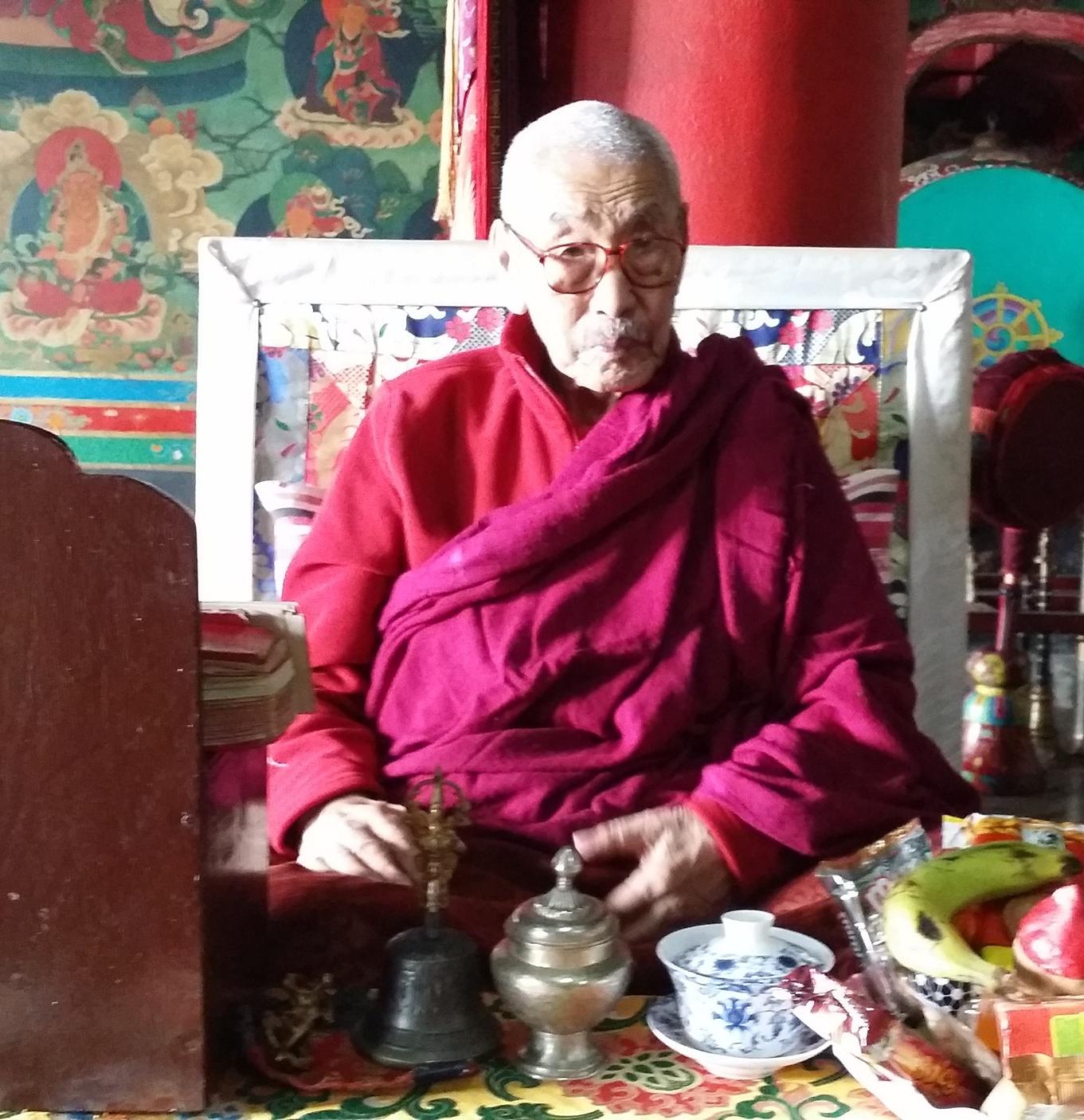 Lama Gonpo Tenzing Rinpoche, Zangdok Palri Monastery, Kalimpong, India (2015)