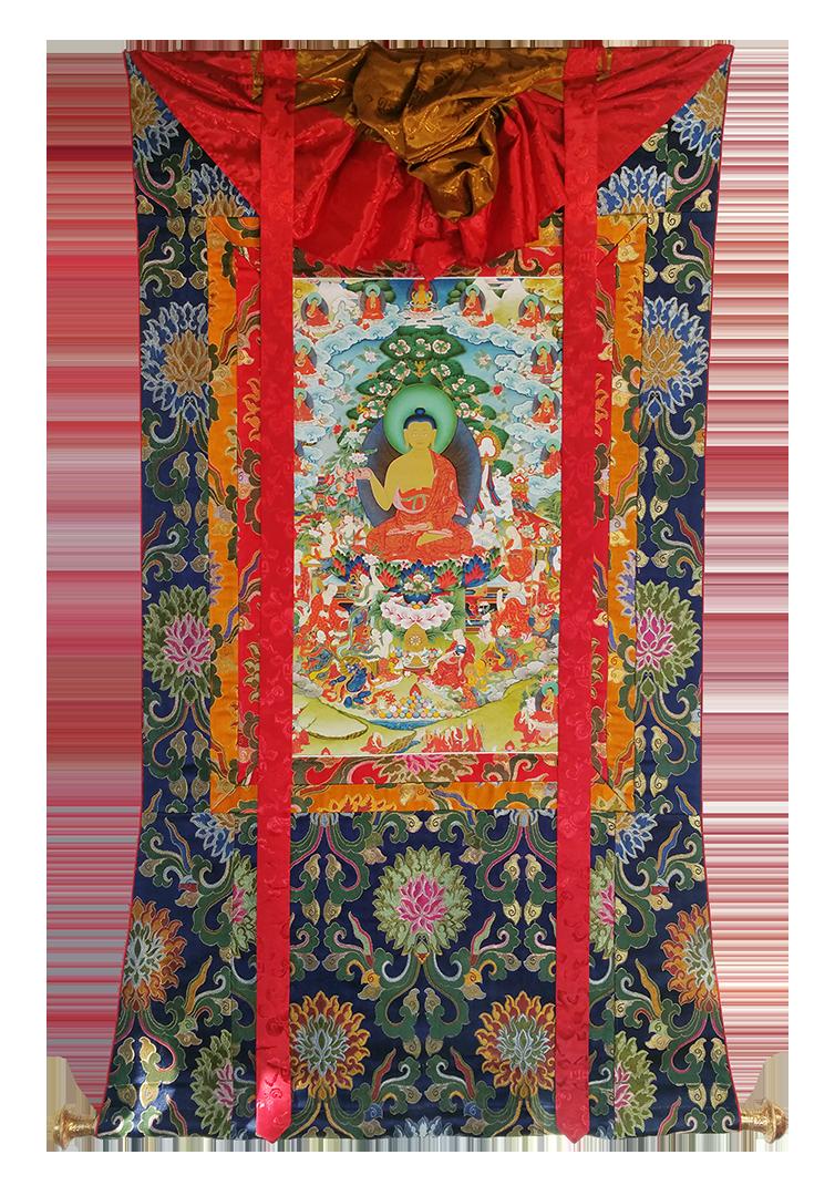 Shakyamuni Buddha thanka by Pema Namdol Thaye